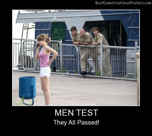 Man Test Best Demotivational Posters