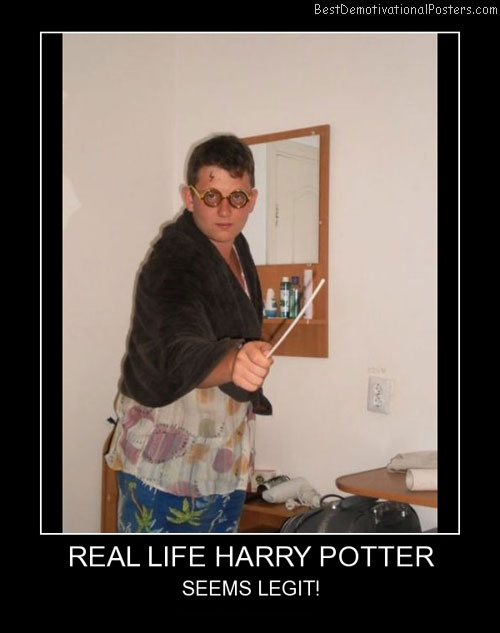 Real Harry Potter Best Demotivational Poster