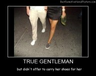 True Gentleman Best Demotivational Posters