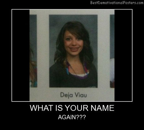 What Is Your Name Best Demotivational Posters