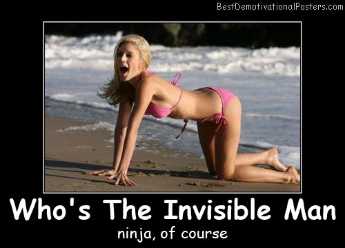 Who's The Invisible Man Best Demotivational Posters
