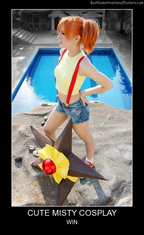Cute Misty Cosplay Best Demotivational Posters