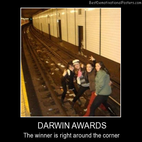 Darwin Awards Best Demotivational Posters