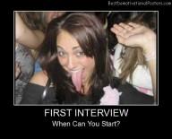 First Interview Best Demotivational Posters