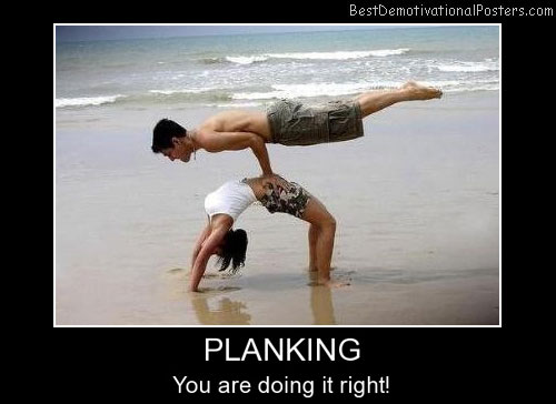Planking Exercise - Motivational Poster