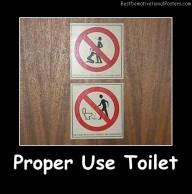 Proper Use Toilet