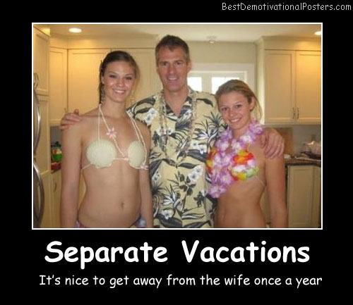 Separate Vacations Best Demotivational Posters