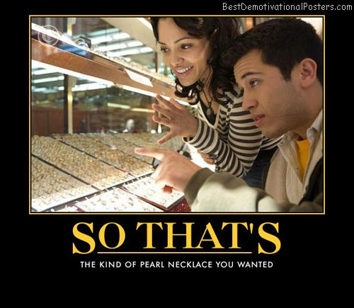 So That's kind-of-pearl-necklace-you-wanted Best Demotivational Posters