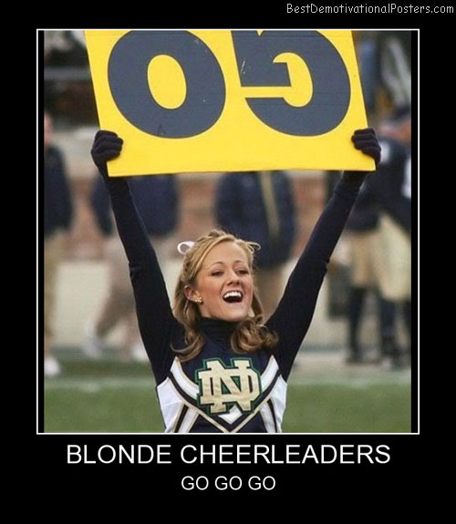 Blonde Cheerleaders Best Demotivational Posters