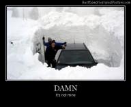 Damn car snow Best Demotivational Posters
