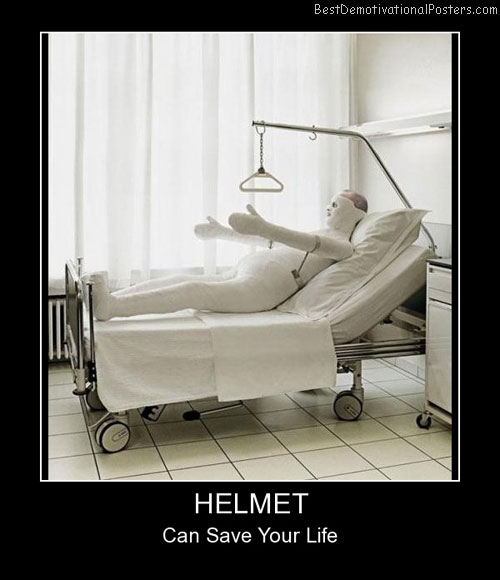 Helmet Can Best Demotivational Posters