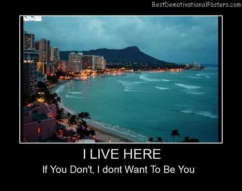 I Live Here Best Demotivational Posters