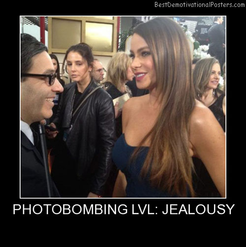 Photobombing Lvl Jealousy Best Demotivational Posters