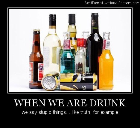 When We Are Drunk Best Demotivational Posters