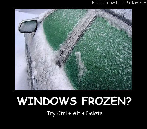 Windows Frozen Best Demotivational Posters