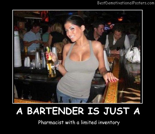 A Bartender Is Just Best Demotivational Posters