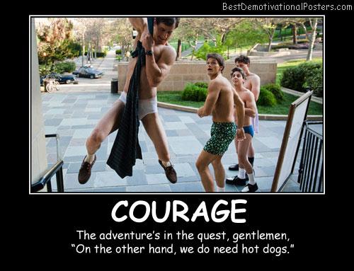 Courage Gentlemen Best Demotivational Posters