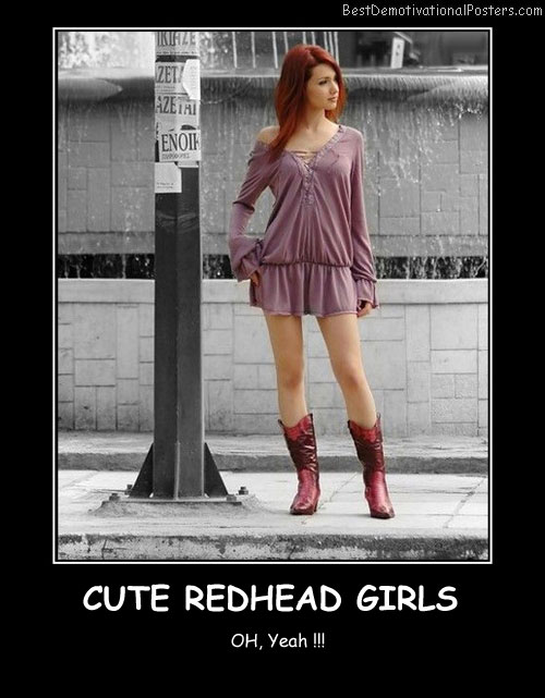 Cute Redhead Girls Best Demotivational Posters