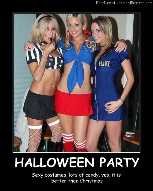 Halloween Party Costumes Best Demotivational Posters