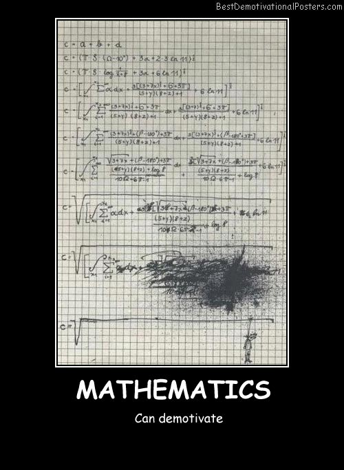 Mathematics Best Demotivational Posters