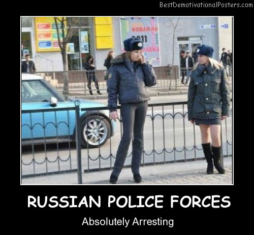 Russian Police Forces Best Demotivational Posters