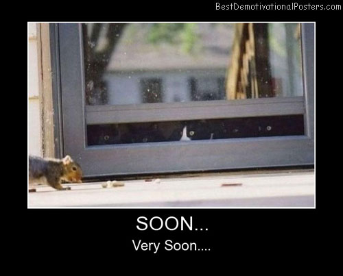 Soon, Very Soon Best Demotivational Posters