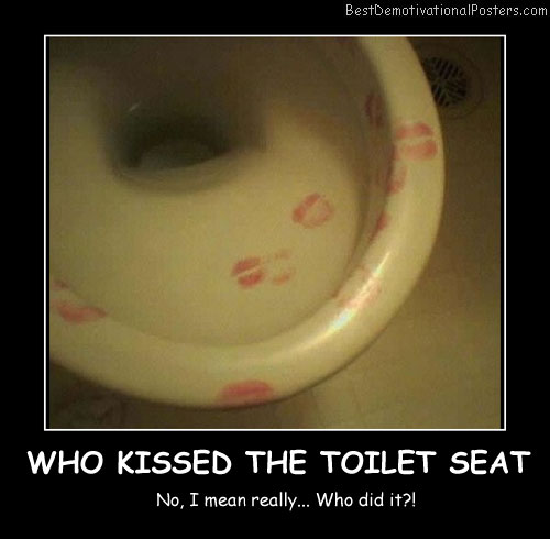 Who Kissed The Toilet Seat Best Demotivational Posters