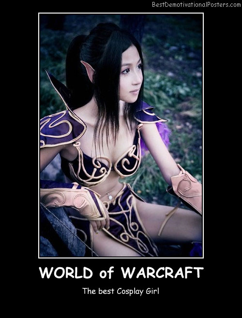 World of Warcraft Cosplay Best Demotivational Posters