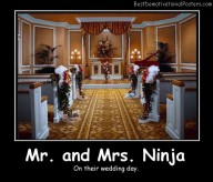 Mr. and Mrs. Ninja Best Demotivational Posters