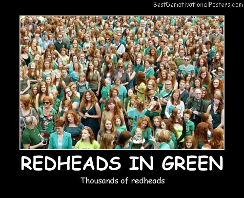 Redheads In Green Best Demotivational Posters