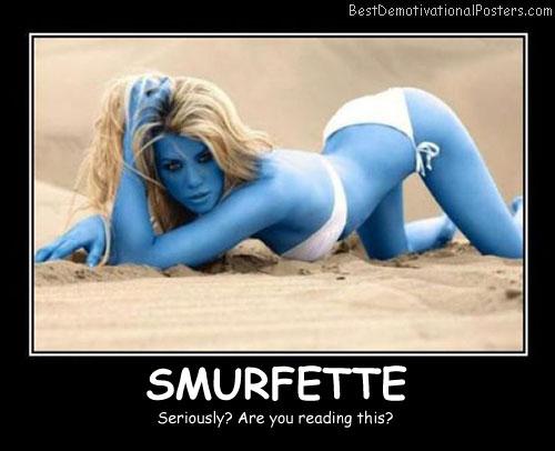 Smurfette Best Demotivational Posters