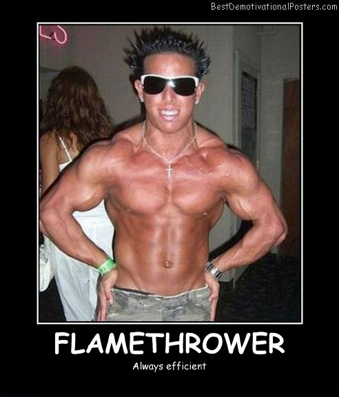 Flamethrower Efficient Best Demotivational Posters