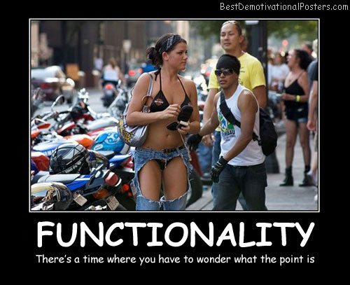 Functionality Demotivational Poster