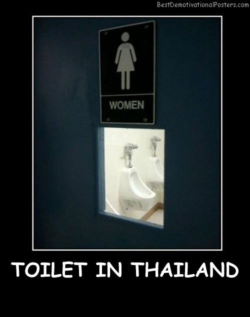 Toilet In Thailand Best Demotivational Posters