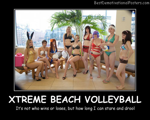 Xtreme Beach Volleyball Best Demotivational Posters