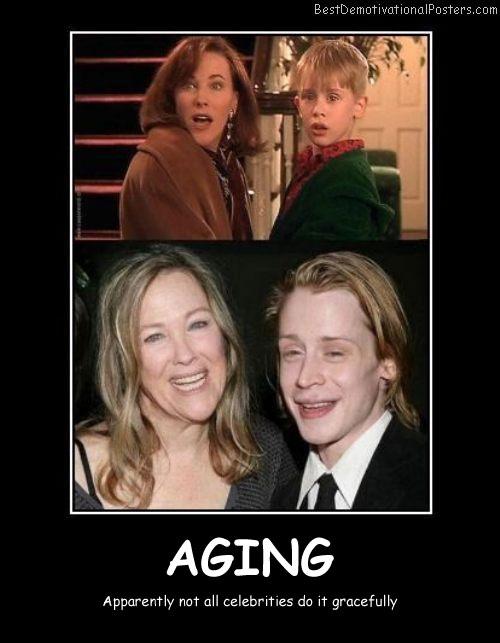 Aging Celebrities Best Demotivational Posters