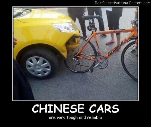 Chinese Cars Best Demotivational Posters