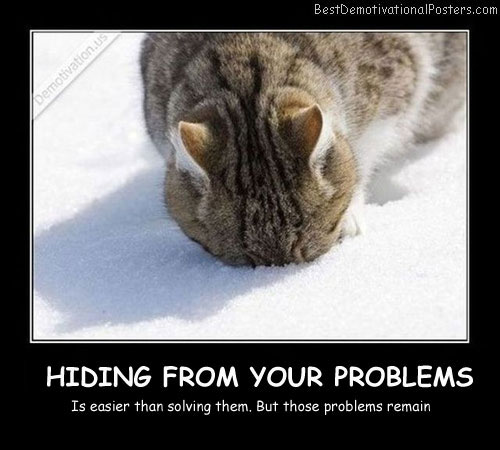 Hiding-From-Your-Problems-Best-Demotivational-Posters