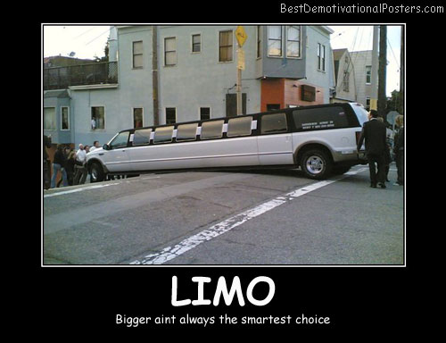 Limo Best Demotivational Posters