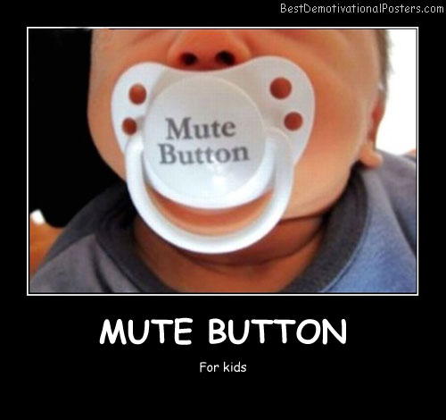 Mute Button Best Demotivational Posters funny