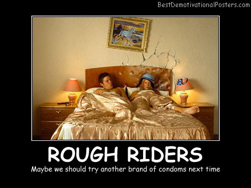 Rough bed couple Posters