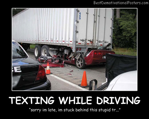 Texting While Driving Best Demotivational Posters