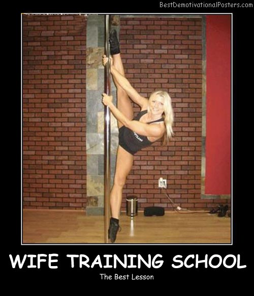 Wife Training School Best Demotivational Posters