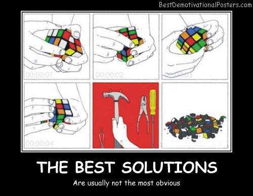 The Best Solutions Best Demotivational Posters