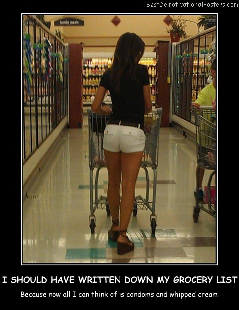 I Should Have Written Down My Grocery List Best Demotivational Posters
