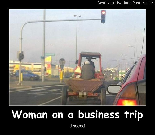 Woman On A Business Trip Best Demotivational Posters