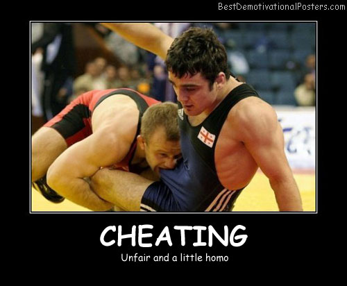 Cheating Unfair Best Demotivational Posters