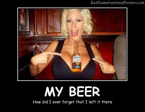 My Beer Best Demotivational Posters