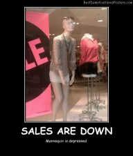Sales Are Down Best Demotivational Posters