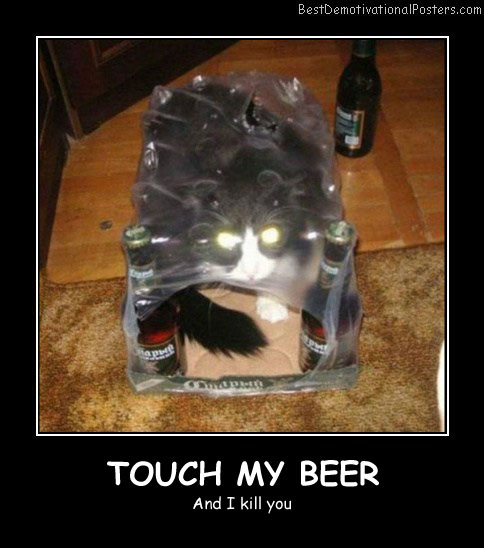 Touch My Beer Best Demotivational Posters